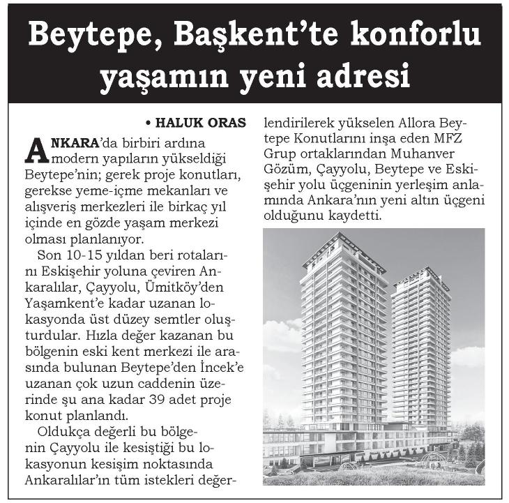 Beytepe, Başkentte Konforlu Yaşamın Yeni Adresi